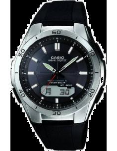 Chic Time | Montre Homme Casio Waveceptor WVA-M640-1AER Noir Cadran argent  | Prix : 199,00€