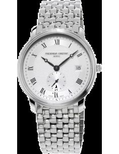 Chic Time | Frédérique Constant Frédérique Constant Slimline 245M4S6B Argent  | Prix : 990,00€