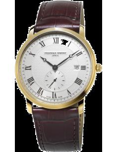 Chic Time | Montre Homme Frédérique Constant Slimline 245M5S5 Marron  | Prix : 910,00€