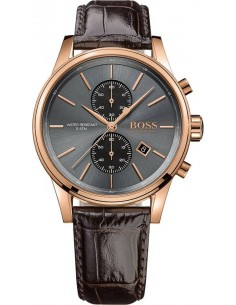 Chic Time | Montre Homme Hugo Boss 1513281 Bracelet cuir brun  | Prix : 288,75€