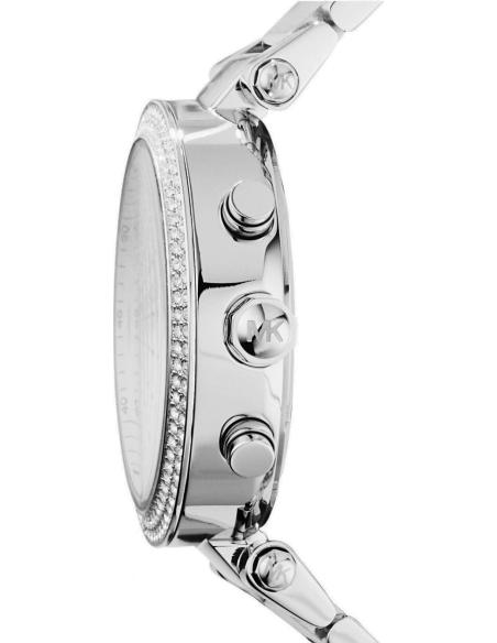 Chic Time | Montre Femme Michael Kors Parker MK5353 argentée ornée de strass  | Prix : 124,50€