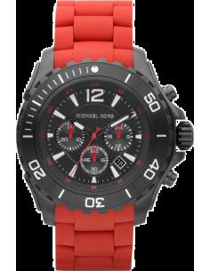 Chic Time | Montre Homme Michael Kors MK8212 Bracelet silicone rouge  | Prix : 299,00€