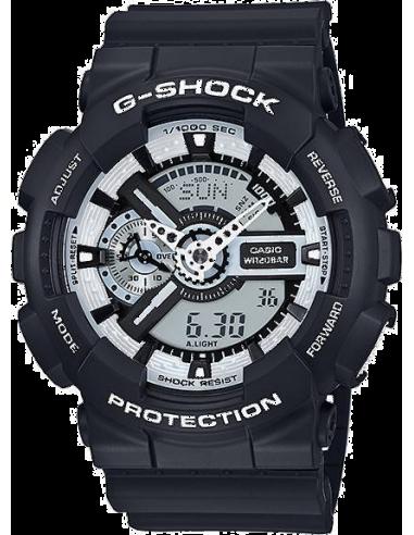 Chic Time | Montre Homme Casio G-Shock GA-110BW-1A  Noir  | Prix : 129,00€