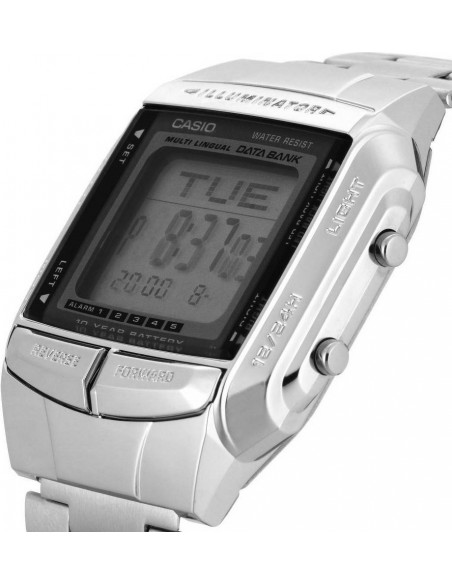 Chic Time | Montre Homme Casio Data Bank DB-360N-1AEF Argent  | Prix : 39,00 €