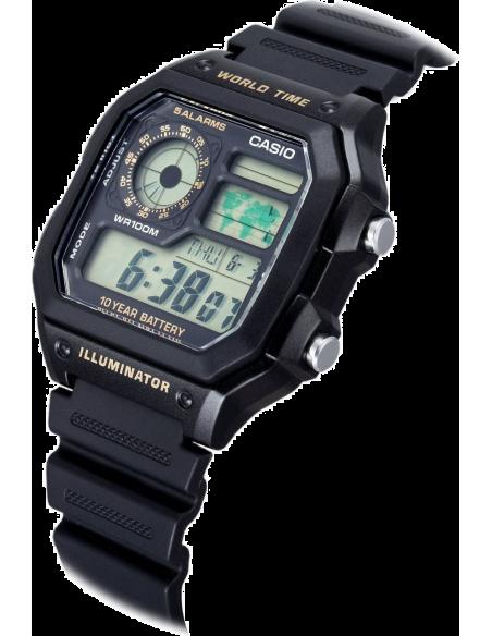 Chic Time | Montre Homme Casio Collection AE-1200WH-1BVEF Noir  | Prix : 34,99€