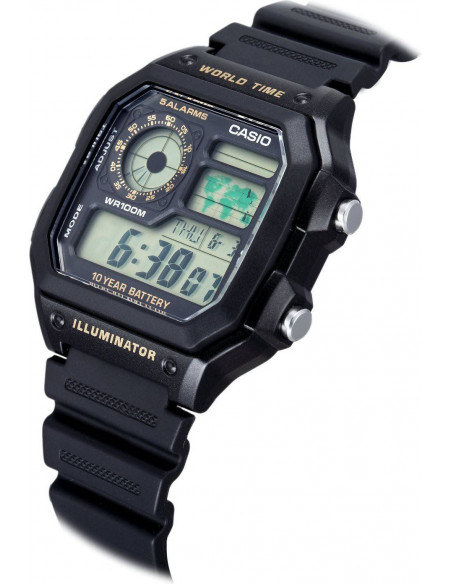 Chic Time | Montre Homme Casio Collection AE-1200WH-1BVEF Noir  | Prix : 34,99 €