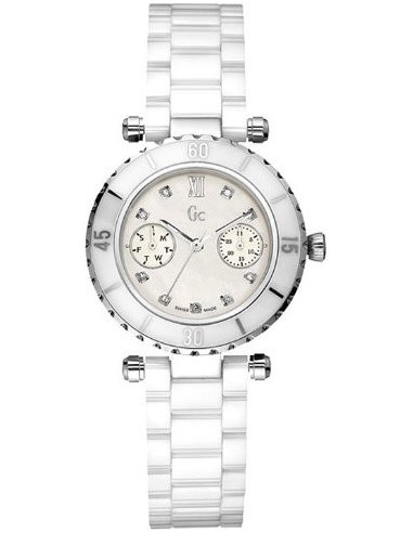 Chic Time | Montre Femme Guess Collection I46003L1 Blanc  | Prix : 474,10€