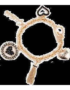 Chic Time | Bracelet Guess couleur or orné de 6 breloques  | Prix : 69,00€