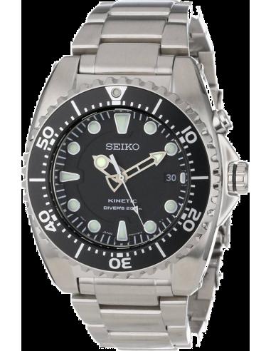 Chic Time | Montre Homme Seiko Kinetic Diver SKA371P1 Argent  | Prix : 840,00€