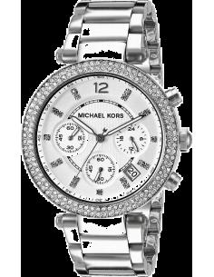 Chic Time   Montre Femme Michael Kors Parker MK5353 argentée ornée de strass    Prix : 149,50€