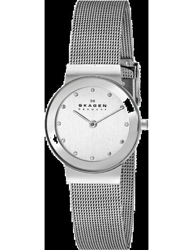 Chic Time | Montre Femme Skagen Freja 358SSSD Design épuré bracelet acier  | Prix : 83,30€