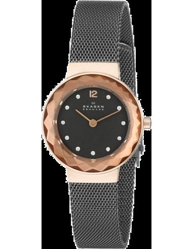 Chic Time | Montre Femme Skagen Leonora 456SRM Noir  | Prix : 138,99€