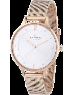 Chic Time | Montre Femme Skagen Anita SKW2151 Bracelet Acier Or Rose Maille Milanaise  | Prix : 187,43€