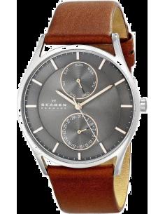 Chic Time | Montre Homme Skagen Holst SKW6086 bracelet brun en cuir  | Prix : 229,90€