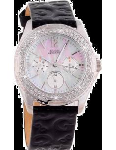 0c3107a747ad Chic Time   Montre Femme Guess Rock Candy G96022L Bracelet en cuir noir  motifs lettres G