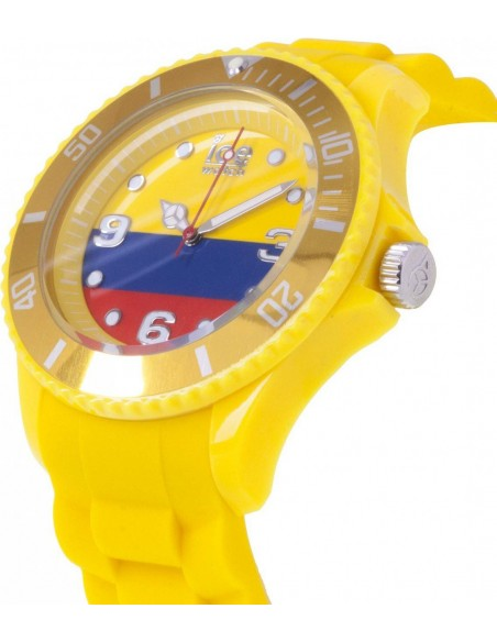 Chic Time | Ice Watch  - Montre Mixte Ice-World WO.CO.B.S.12 Jaune Cadran tricolore  - Prix : 29,97 €
