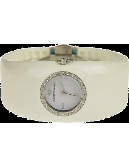 Chic Time | Montre Femme Emporio Armani AR0740 Bracelet large Lunette strassée  | Prix : 189,00€