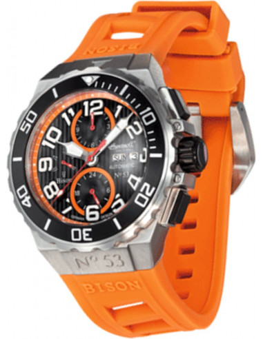 Chic Time | Montre Homme Ingersoll Bison IN4513OR Orange  | Prix : 229,00€