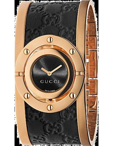 Chic Time   Montre Femme Gucci Twirl YA112438 Noir    Prix : 865,00€