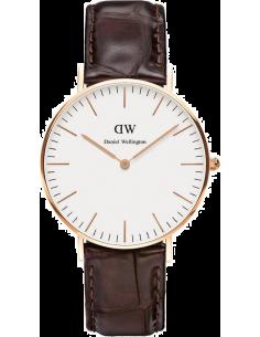 Chic Time | Montre Femme Daniel Wellington Classic York 0510DW Cuir croco marron  | Prix : 143,65€