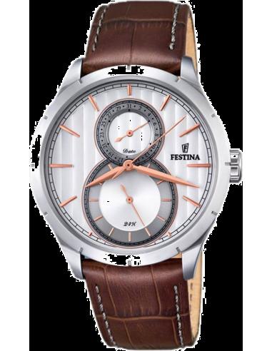 Chic Time | Montre Homme Festina Retro F16892/2 Marron  | Prix : 129,00€