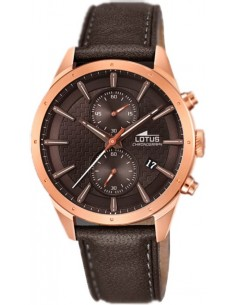 Chic Time | Montre Homme Lotus Chrono L18314/1 Marron  | Prix : 189,00 €