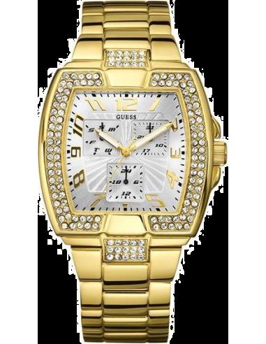 Chic Time | Montre Guess Prism Squared U15014L1 Dorée cadran Argent  | Prix : 219,90€