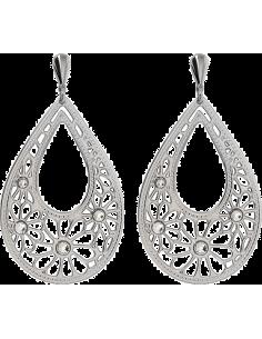 Chic Time | Boucles d'oreilles Lotus Privilege LS1663-4/1 fleurs argentées  | Prix : 18,85€