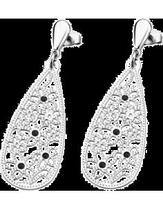Chic Time | Boucles d'oreilles Lotus LS1664-4/1 motifs fleurs  | Prix : 15,60€