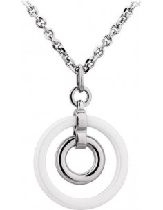 Chic Time | Collier Lotus Ceramic LS1610-1/1 cercle céramique blanche  | Prix : 27,20 €
