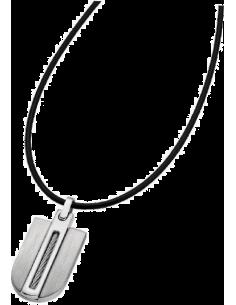 Chic Time | Collier Homme Lotus LS1635-1/1 plaque acier chromé   | Prix : 23,20€