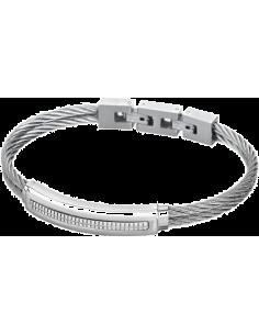 Chic Time | Bracelet homme Lotus LS1738-2/1 cordons rigides argentés  | Prix : 25,35€