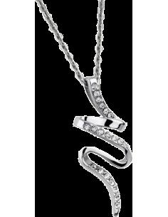 Chic Time | Collier Lotus LS1750-1/1 pendentif avec strass  | Prix : 31,20€
