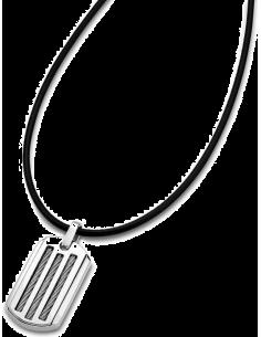 Chic Time | Collier homme Lotus LS1636-1/1 pvc et plaque acier  | Prix : 27,20€