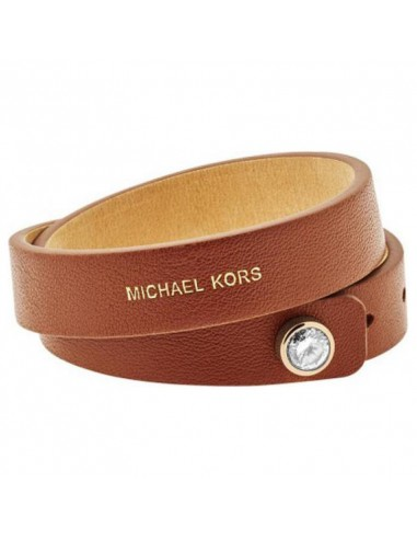 Bracelet Michael Kors MKJ4897710 double cuir marron