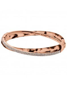 Chic Time | Bracelet Michael Kors MKJ5021791 Or rose marron et strass  | Prix : 119,20€