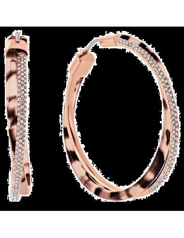 Chic Time | Boucles d'oreilles Michael Kors MKJ5025791 or rose et marron  | Prix : 104,30€