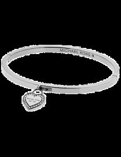 Chic Time | Bracelet Michael Kors MKJ5038040 argenté breloque coeur  | Prix : 90,00€