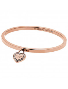Chic Time | Bracelet Michael Kors MKJ5039791 or rose breloque coeur strassé  | Prix : 118,00 €