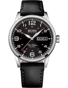 Chic Time | Montre Homme Hugo Boss Pilot 1513330 Noir  | Prix : 169,15€