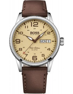 Chic Time | Montre Homme Hugo Boss Pilot 1513332 Marron  | Prix : 237,15 €