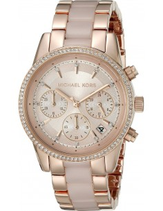 Chic Time | Montre Femme Michael Kors Ritz MK6307 Or Rose  | Prix : 279,00€
