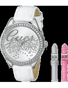 Chic Time | Montre Femme Guess W0201L2 Coffret 3 bracelets blanc argenté rose  | Prix : 189,00€