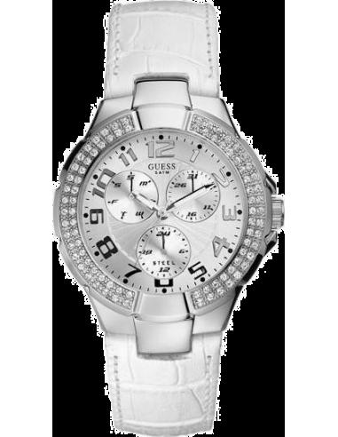 Chic Time | Montre Guess Prism W11008L1 Cuir blanc  | Prix : 199,90€