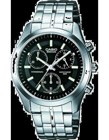 Chic Time | Montre Homme Casio BEM-503D-1AVDF Argent  | Prix : 58,40€