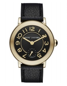 Chic Time | Montre Femme Marc Jacobs Riley MJ1471 Bracelet cuir noir  | Prix : 199,00€