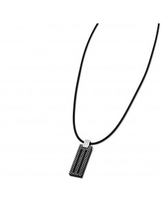 Chic Time | Collier Lotus Style Man in Black LS1797-1/4  | Prix : 35,20€
