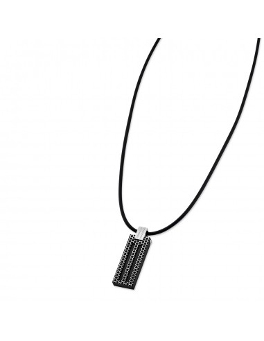 Chic Time | Collier Lotus Style Man in Black LS1797-1/4  | Prix : 35,20 €