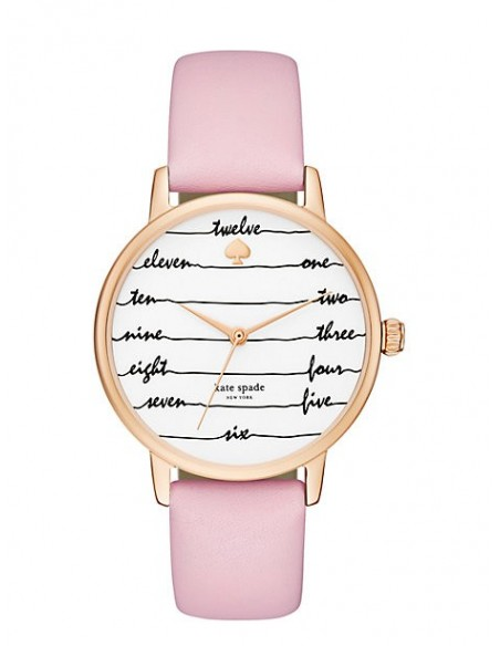 Chic Time | Montre Femme Kate Spade Metro KSW1239 Rose  | Prix : 159,20€