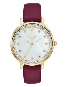 Chic Time | Montre Femme Kate Spade Monterey KSW1170 Rouge  | Prix : 183,20 €
